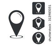 map pointer icon set ...