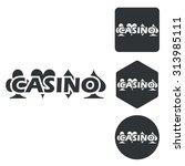 casino icon set  monochrome ...