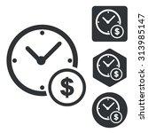 dollar time icon set ...