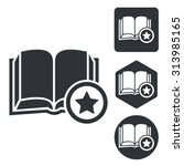 favorite book icon set ...
