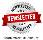 newsletter 3d silver badge with ... | Shutterstock .eps vector #313985279