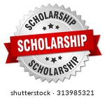 scholarship 3d silver badge... | Shutterstock .eps vector #313985321