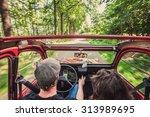 couple in an ondtimer... | Shutterstock . vector #313989695