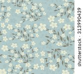seamless floral pattern | Shutterstock .eps vector #313990439