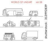 transport road taxi van truck... | Shutterstock .eps vector #313992839