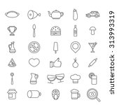 linear style flat graphical set ...