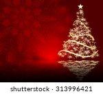 stylized vector christmas tree...   Shutterstock .eps vector #313996421