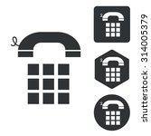 cellphone icon set  monochrome  ...