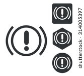 alert sign icon set  monochrome ...