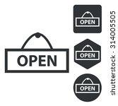 open icon set  monochrome ...