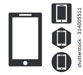 tablet pc icon set  monochrome  ...