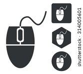 computer mouse icon set ...