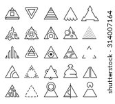 vector set of triangle...
