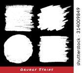 set of white hand drawn grunge... | Shutterstock . vector #314009849