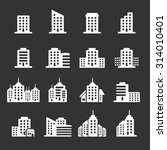 building icon set 6  vector... | Shutterstock .eps vector #314010401
