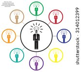 pictograph of bulb concept | Shutterstock .eps vector #314012399