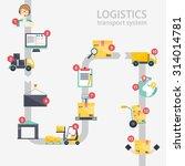 logistic infographics. set of... | Shutterstock .eps vector #314014781