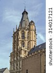 Small photo of The City Hall tower is a historical building in Cologne, Germany