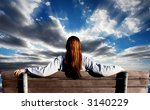 girl looking into the future | Shutterstock . vector #3140229