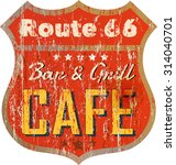 Vintage Route Sixty Six Cafe...