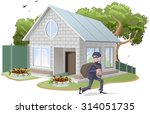 male thief robbed house.... | Shutterstock .eps vector #314051735