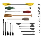 paddles and oars vector icons... | Shutterstock .eps vector #314054117