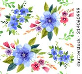 seamless pattern with... | Shutterstock . vector #314060999