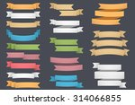 blank colored ribbons set  one  ... | Shutterstock .eps vector #314066855