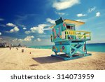south beach in miami  florida | Shutterstock . vector #314073959