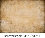 aged treasure map background... | Shutterstock . vector #314078741