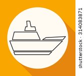 ship icon | Shutterstock .eps vector #314083871