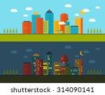 flat design modern illustration ... | Shutterstock . vector #314090141
