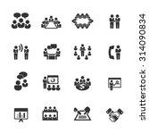 meeting icons vector   Shutterstock .eps vector #314090834