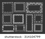 set of vintage frames hand... | Shutterstock .eps vector #314104799