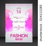 vector stylish banner  poster... | Shutterstock .eps vector #314111285