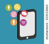 mobile applications shop... | Shutterstock .eps vector #314113661