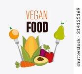 vegan food design  vector... | Shutterstock .eps vector #314125169