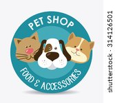 pet shop design  vector... | Shutterstock .eps vector #314126501