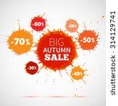 big autumn sale badge  label.... | Shutterstock .eps vector #314129741