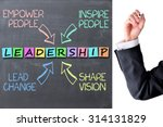 leadership business concept... | Shutterstock . vector #314131829