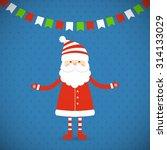 santa claus on a blue... | Shutterstock .eps vector #314133029