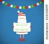 santa claus holding a... | Shutterstock .eps vector #314133059