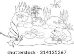 coloring pond   Shutterstock .eps vector #314135267