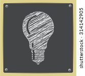 vector chalk drawn sketch of... | Shutterstock .eps vector #314142905