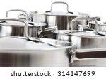 stainless steel pots | Shutterstock . vector #314147699
