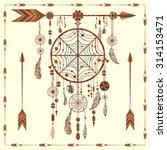 dream catcher. ethnic indian...   Shutterstock . vector #314153471