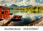 boat on the dock surrounded... | Shutterstock . vector #314155067