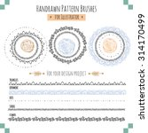 set with seamless vector... | Shutterstock .eps vector #314170499