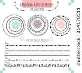 set with vector pattern hand... | Shutterstock .eps vector #314170511