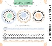 set with vector pattern hand... | Shutterstock .eps vector #314170535